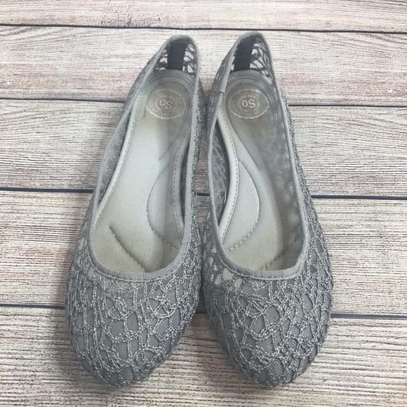 SO Gray Lace Slip On Flats